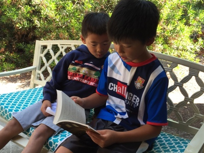 Kids build confidence as they read to others. (book: The Miraculous Journey of Edward Tulane by Kate DiCamillo)