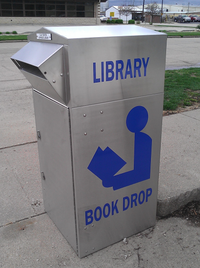 book drops allow students to return books