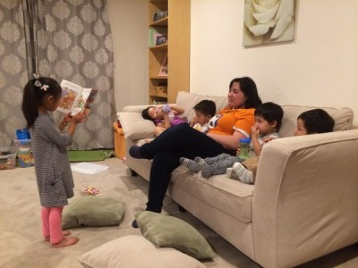 reading aloud babysitting