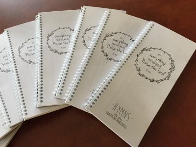 mini hymnals return